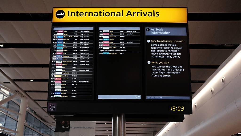 Flughafen Heathrow öffnet Terminal für Reisende aus Hochrisikoländern