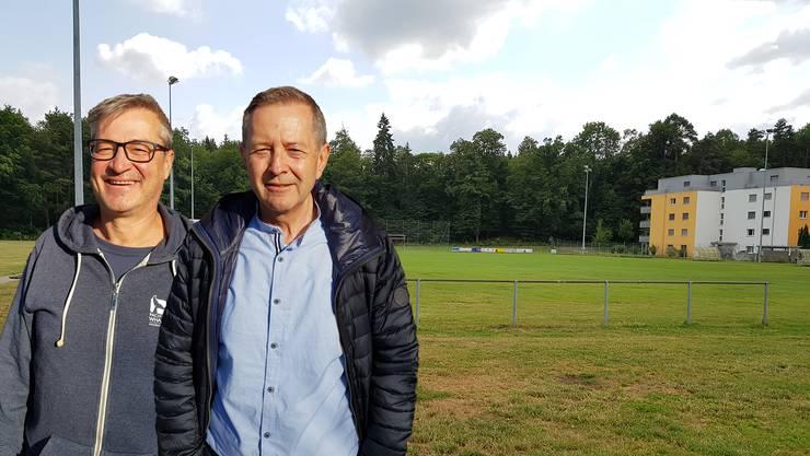 Walter Berli (l.) und Willy Wenger sind seit wenigen Monaten  Co-Präsidenten der FC-Aarau-Frauen.