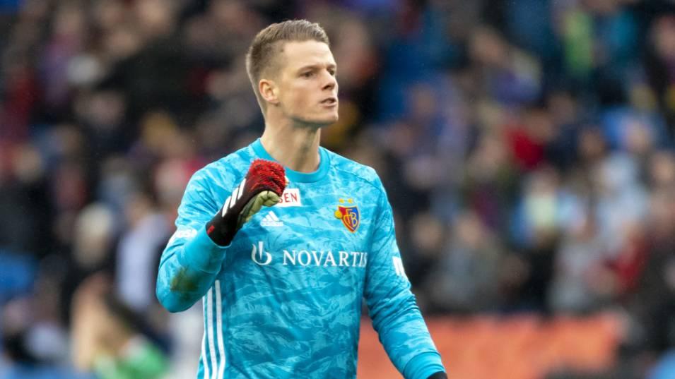 Jonas Omlin , hier noch im Dress des FC Basel