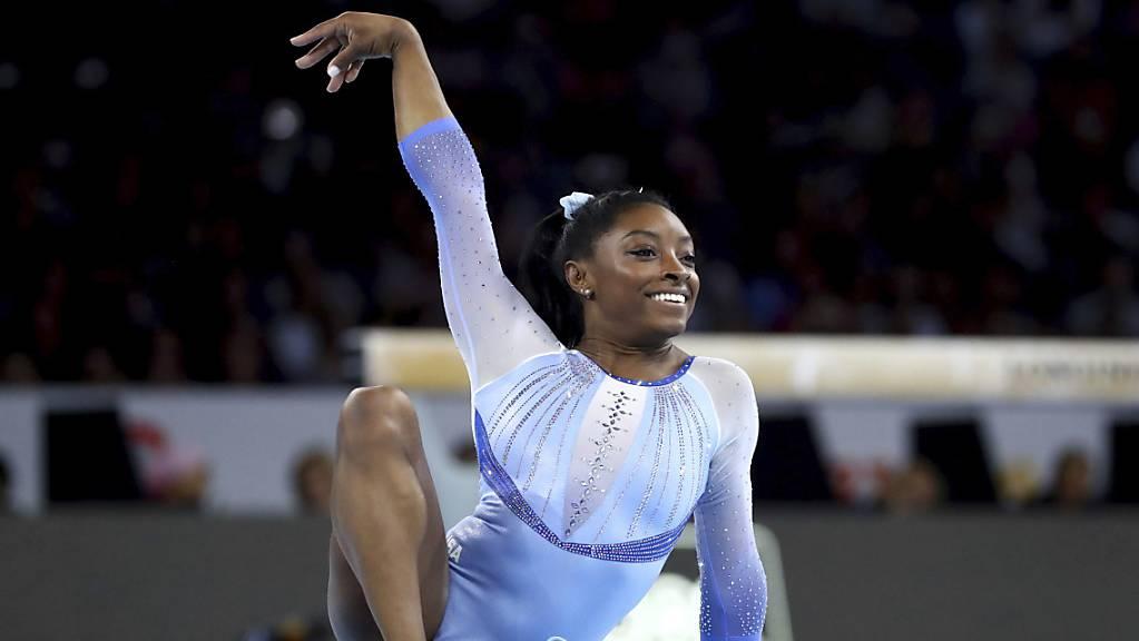Simone Biles führte das amerikanische Frauen-Team einmal mehr überlegen zum Titel