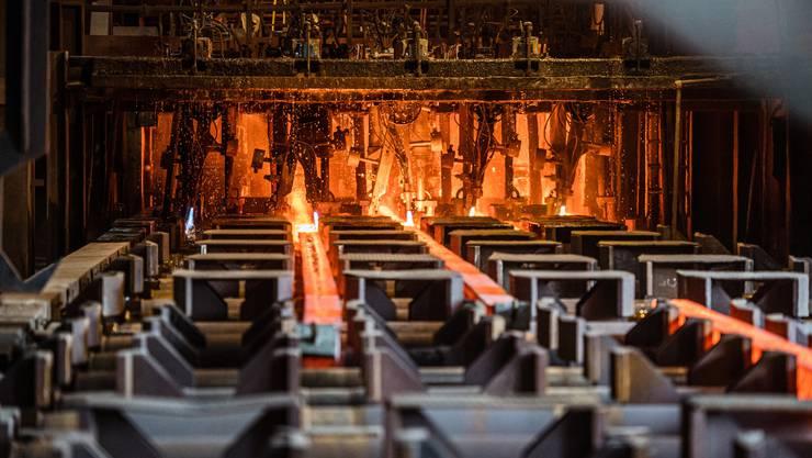 Am Montagmorgen nahm der neue Schmelzofen im Stahlwerk Gerlafingen seinen Betrieb auf. Impressionen aus dem Werk.