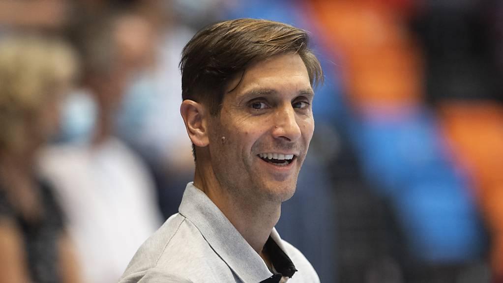 Pfadis Trainer Adrian Brüngger hat gut lachen.
