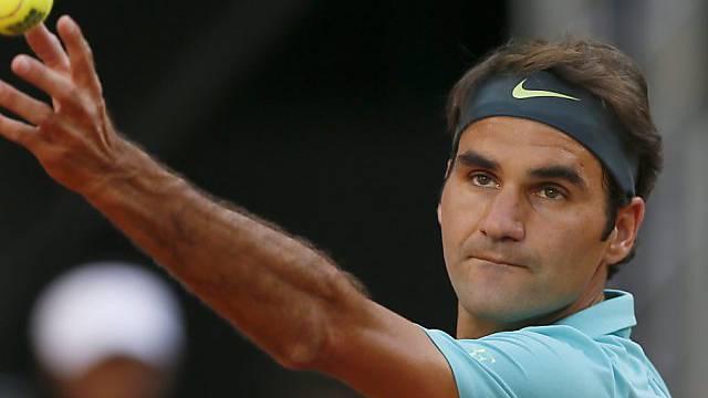 Roger Federer steht in Rom im Achtelfinal