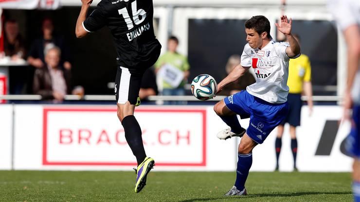 Joao Paiva in einem Spiel gegen den FC Biel.