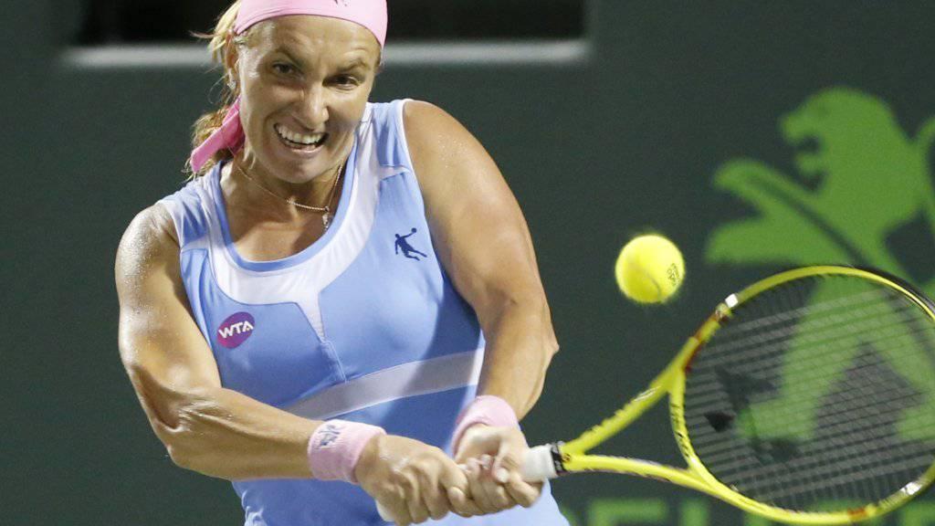 Bacsinszkys nächste Gegnerin: Swetlana Kusnezowa schafft in ihrem Viertelfinal gegen Jekaterina Makarowa nach verlorenem Startsatz die Wende