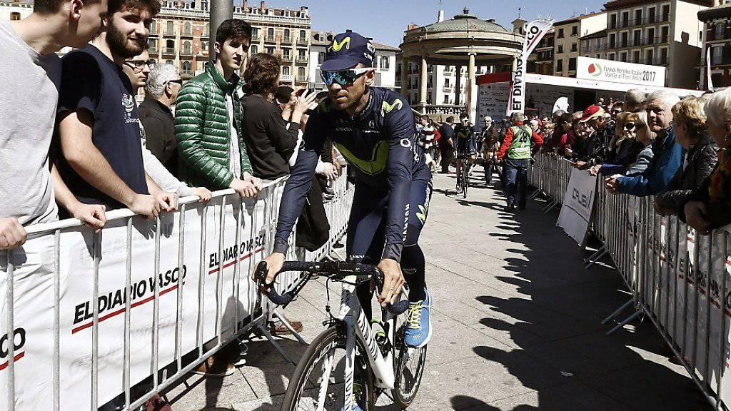 Alejandro Valverde vor dem Start zu einer Etappe der Baskenland-Rundfahrt