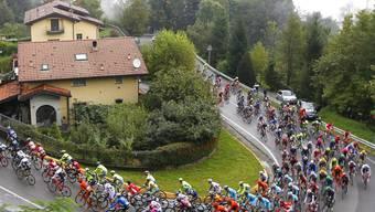 Einer von sechs Anstiegen: An der Lombardei-Rundfahrt müssen die Fahrer insgesamt 4000 Höhenmeter bewältigen