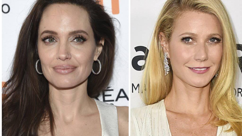 Auch sie bezichtigen US-Starproduzent Harvey Weinstein der sexuellen Belästigung: Die Schauspielerinnen Angelina Jolie (Links) und Gwyneth Paltrow.