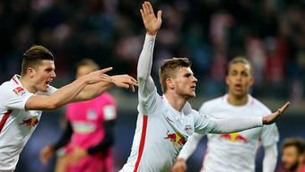 Timo Werner schoss das 1:0 für Leipzig.