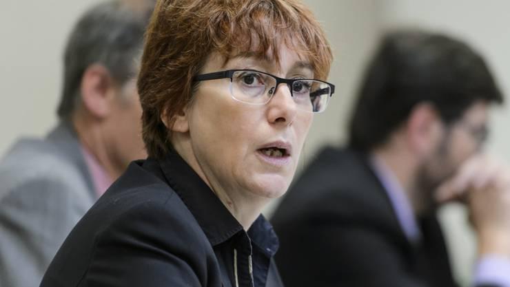 Die Waadtländer SVP-Präsidentin Fabienne Despot bleibt weiterhin Kandidatin für die National- und Ständeratswahlen (Archivbild).