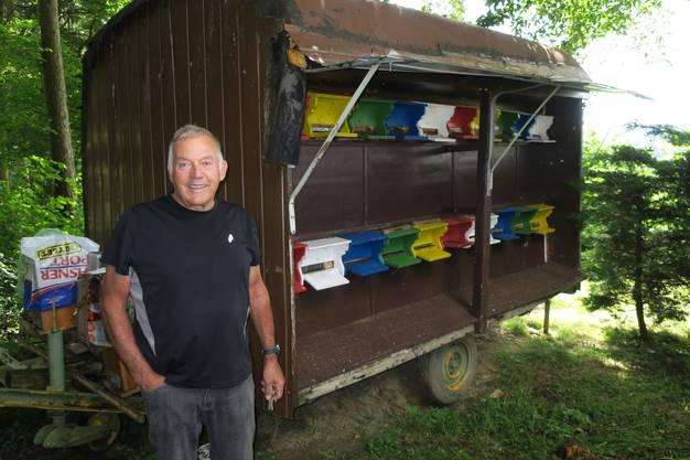 Das mobile Bienenhaus von Peter Dällenbach in Birmensdorf