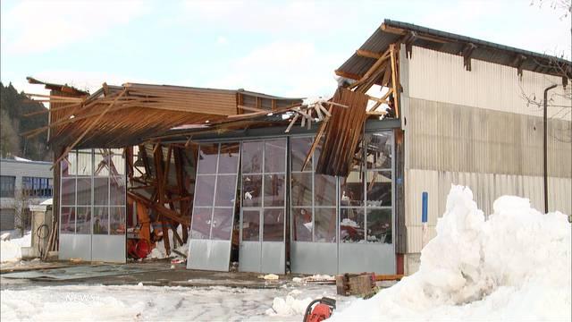 Dach in Gibswil wegen Schnee eingestürzt