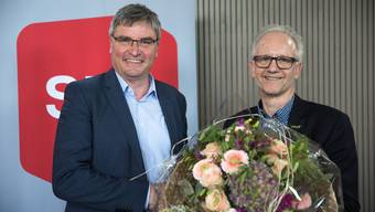 Stefan Hug-Portmann (links) übernimmt das Amt des FDP-Gemeindepräsidents Martin Blaser – damit endet die 28-jährige FDP-Ära in Biberist.