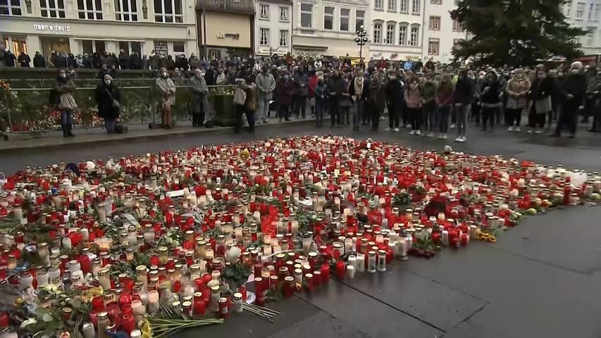 Schweigeminute für die Opfer von Trier
