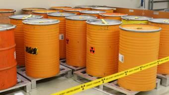 Sie sollen dereinst tief unter die Erde: Radioaktive Abfälle lagern im Zwischenlager bei Würenlingen.