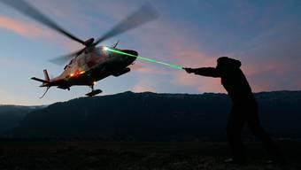 Laser-Attacke auf Rega-Heli