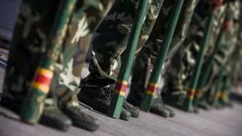 Rohe Gewalt: Chinesische Soldaten in Xinjiangs Hauptstadt Urumqi.