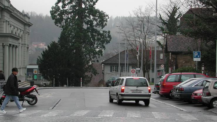 Der Schlossplatz in Aarau