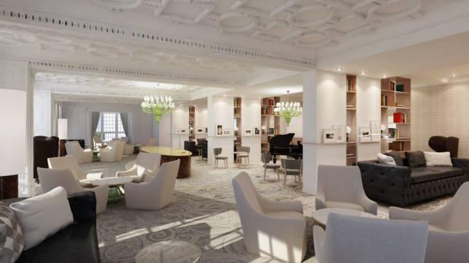 Die Lobby mit Lounge-Charakter bildet das Herzstück des Hauses.