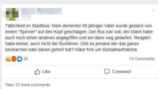 Das schreibt die Tochter des mutmasslichen Opfers auf Facebook.