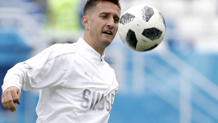 Lässt sich beim 3:0-Heimsieg von Dinamo Zagreb als Doppeltorschütze feiern: Mario Gavranovic