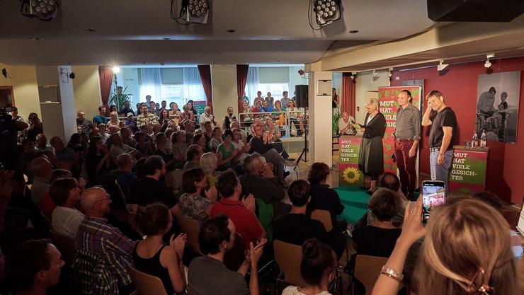 Wahlkampf-Anlass der Grünen im Freitaler Kulturhaus.