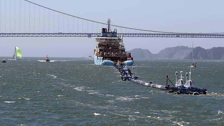"""Funktioniert nicht wie gewünscht: Das Projekt """"Ocean-Cleanup"""". (Archiv)"""