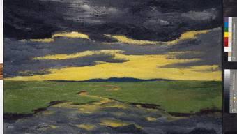 Emil Nolde (1867–1956): «Vorabend (Marschlandschaft)», 1916, 73,4 x 100,9 cm; Öl auf Leinwand; Inv. 1751.