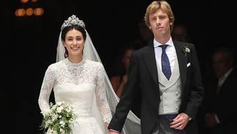 Märchenhochzeit: Prinz Christian von Hannover und seine Frau Alessandra de Osma beim Verlassen der Kirche nach der Trauung in Lima.