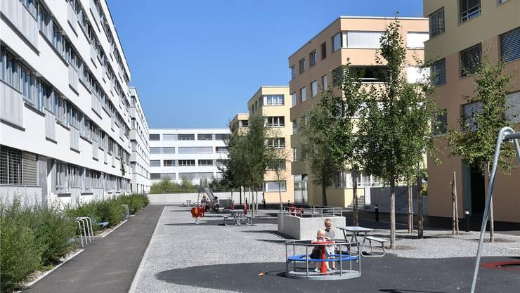Die Plätze zwischen den neu zu bauenden Gebäuden sollen grösser und grüner werden als bisher in Olten SüdWest