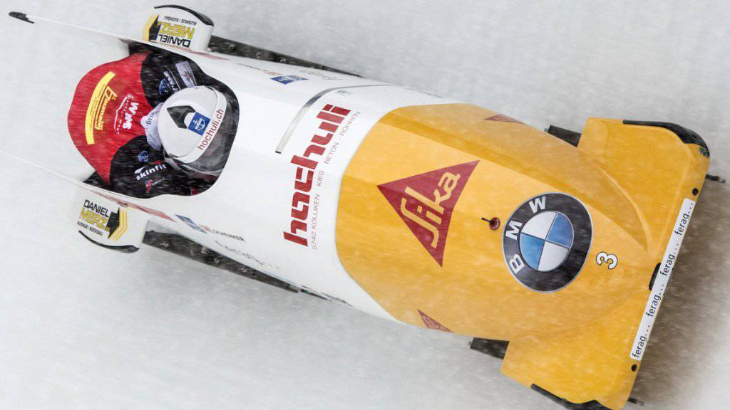 War als Siebter der bessere Schweizer Bobpilot in Altenberg: Rico Peter (mit Bremser Janne Bror van der Zijde)