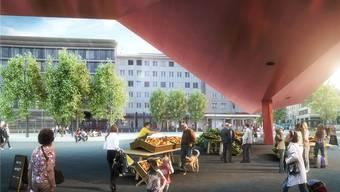 So könnte das Schlieremer Zentrum nach den Plänen des Stadtrates dereinst aussehen.  zvg
