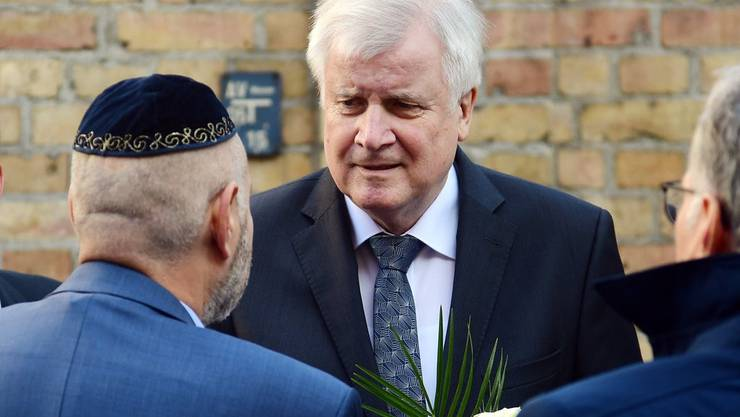 Horst Seehofer in Halle.