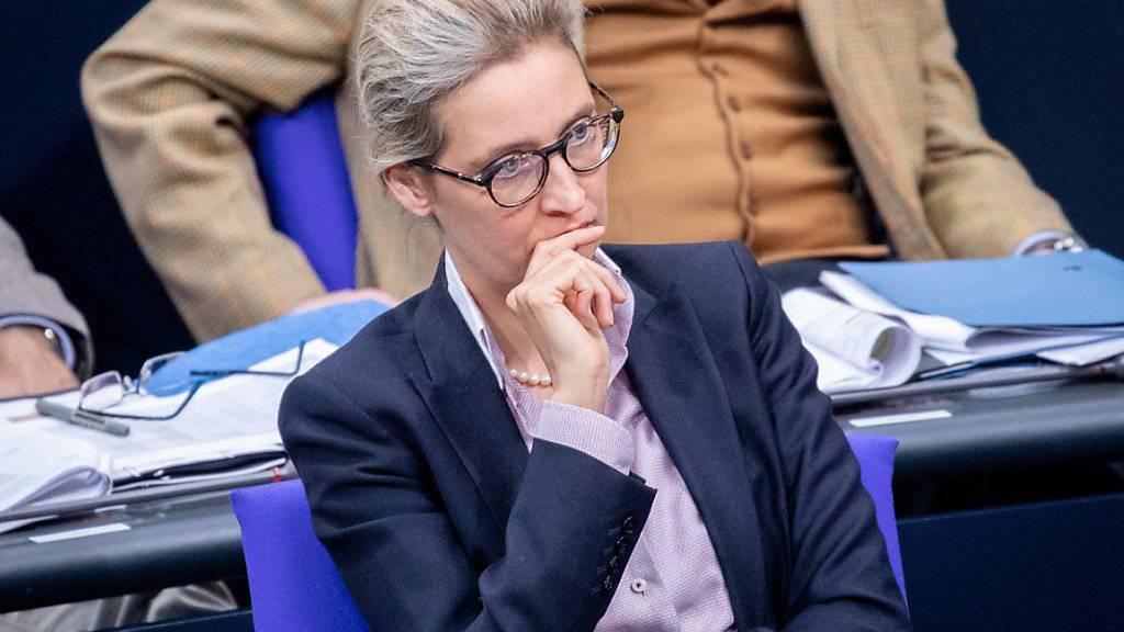 Gegen die AfD-Fraktionsvorsitzende Alice Weidel wird wegen Verstosses gegen das Parteiengesetz ermittelt. Foto: Kay Nietfeld/dpa +++ dpa-Bildfunk +++