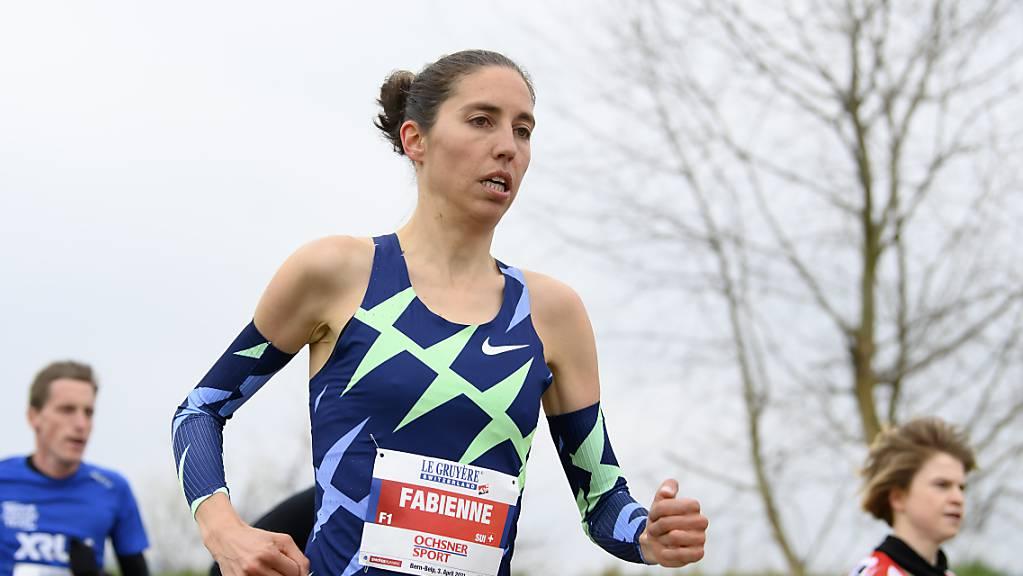 Fabienne Schlumpf mit konzentriertem Blick: Die Zürcherin zog ihre Pace bis zum Schluss durch.