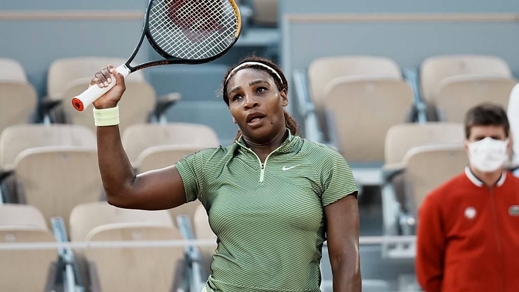 Serena Williams musste über drei Sätze gehen