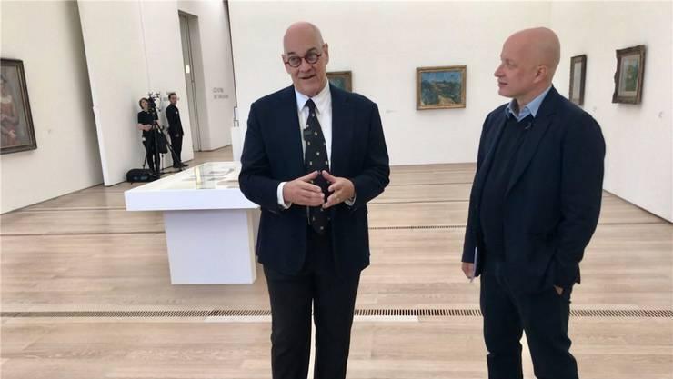 «Die beste Lösung für die Kunststadt Basel» – Ruedi Staechelin (links) mit Sam Keller.