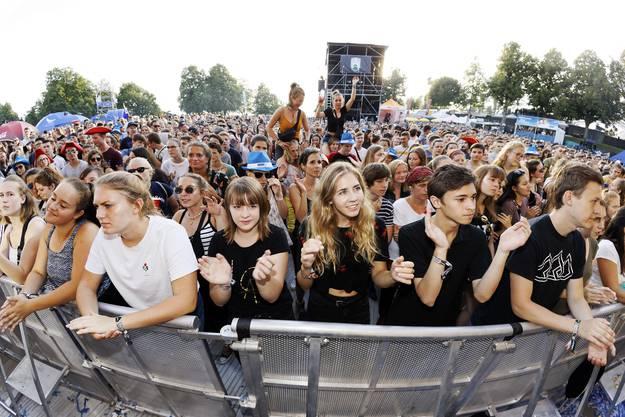 Das Publikum beim Konzert von Welshly Arms.