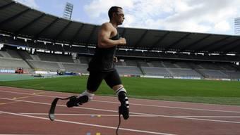 Oscar Pistorius vor einem Wettkampf in Brüssel 2011 (Archiv)