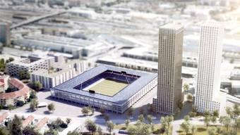 2018: So soll das neue Stadion auf dem Hardturmareal aussehen. (Visualisierung)