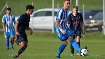 Denis Kostadinovic in der Vorrunde 2019/20 im Spiel gegen den FC Lommiswil.