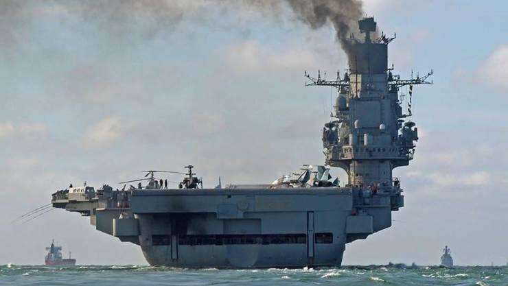 """Die russische Truppenreduzierung beginnt mit dem Flugzeugträger """"Admiral Kusnetzow"""" (Archiv)"""