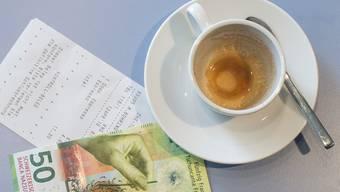 Die Kaffeepreise sind in der Schweiz erneut gestiegen. Am meisten im Kanton Aargau.