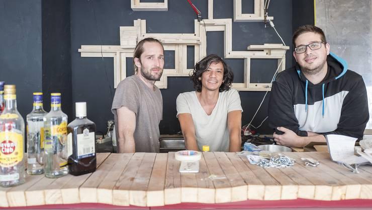 Von links: Marc Sapulowitsch, Nikhil Bigler und Martin Szaradics.