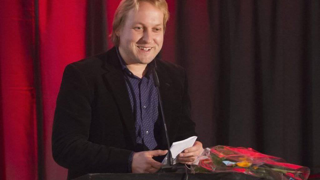 Thilo Krause während der Verleihung des Eidgenössischen Literaturpreises im Dezember 2012 in Bern.