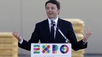 Ein erleichterter Renzi bei der Expo-Eröffnung