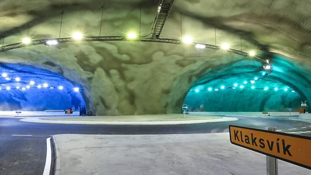 Tunnel mit Unterwasser-Kreisverkehr auf Färöer-Inseln eröffnet
