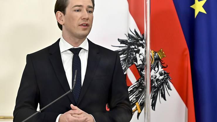 Österreichs Bundeskanzler Sebastian Kurz tritt in Wien auf. Foto: Herbert Neubauer/APA/dpa