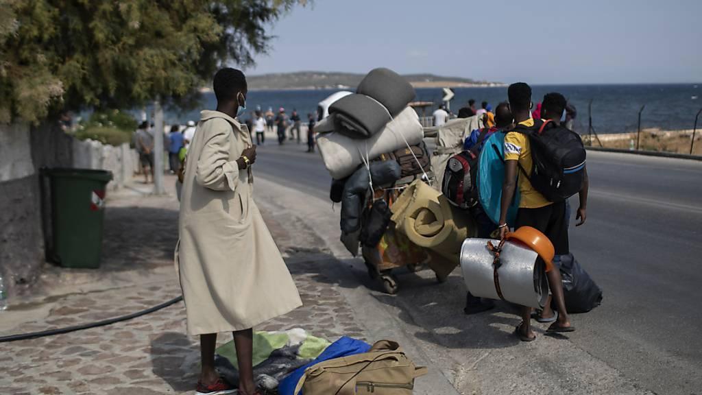 Flüchtlinge auf Lesbos. (Archivaufnahem)