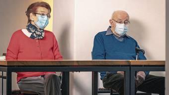 Das Ehepaar Paula (85) und Jakob Kaufmann (92) ist seit einigen Wochen Bewohner in der Pflegi Muri.